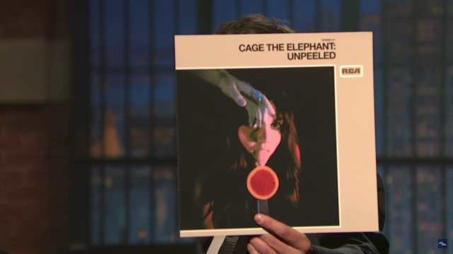 Album cover for 'Unpeeled' by Cage the Elephant. Photo by: Late Night with Seth Myers / YouTube