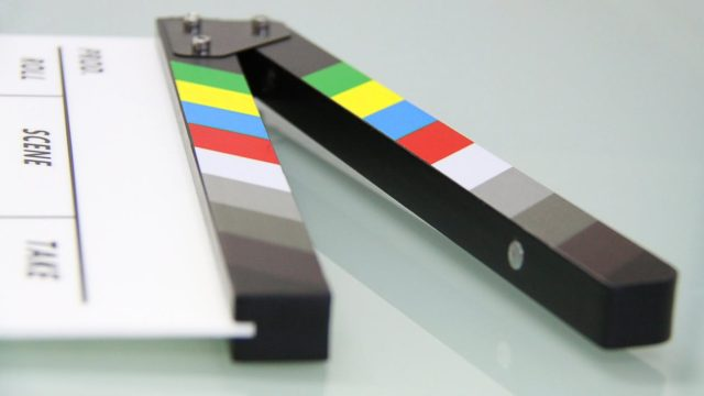 A clapper board for film projects. Photo by: Pexels.com