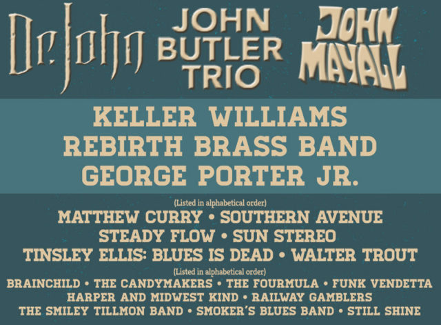Peoria Blues Festival lineup. Photo provided.