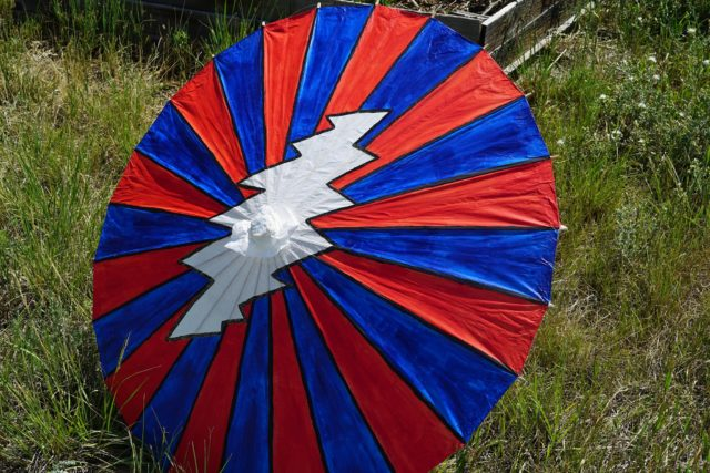 A colorful umbrella. Photo by: Samantha Harvey