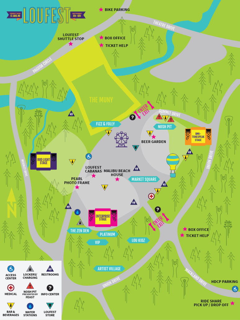 LouFest Music Festival 2017 map. Photo by: LouFest Music Festival