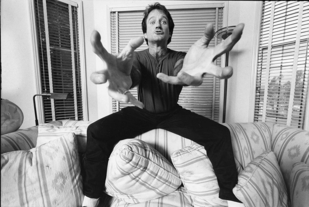 Robin Williams appears in Robin Williams: Come Inside My Mind by Marina Zenovich, an official selection of the Documentary Premieres program at the 2018 Sundance Film Festival. Courtesy of Sundance Institute   photo by Mark Sennet.