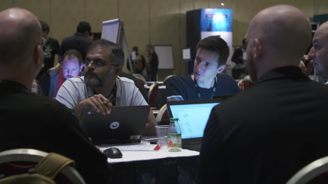 AWS re:Invent 2017 hackathon. Photo by: AWS / YouTube