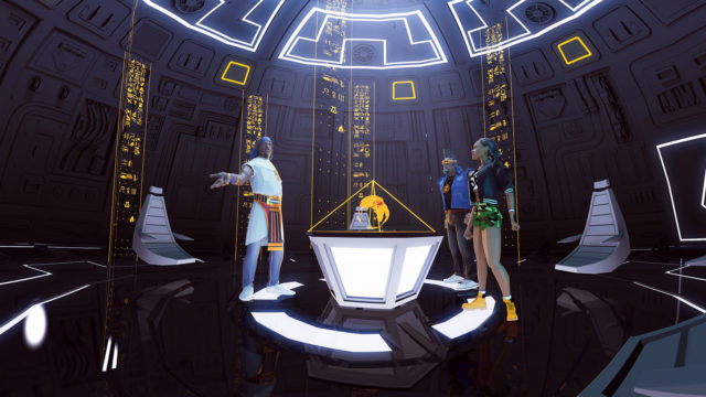 A still image from Masters Of The Sun by will.i.am, apl de ap, and Taboo, an official selection of the New Frontier VR Experiences program at the 2018 Sundance Film Festival. Courtesy of Sundance Institute.