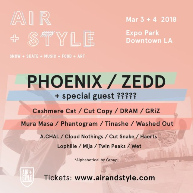 Air + Style 2018 lineup set to take place in downtown Los Angeles. Photo by: Air + Style
