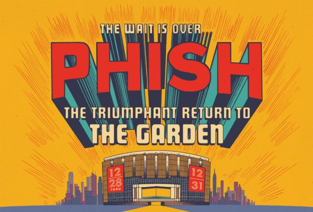 Phish live stream from Madison Square Garden. Photo by: Phish