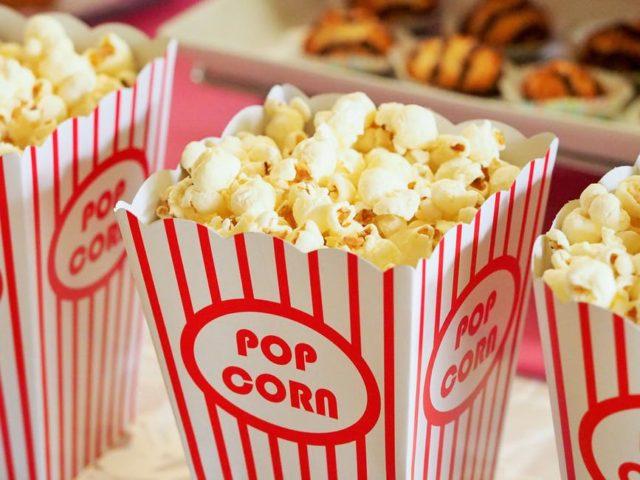 Movie popcorn. Photo by: Pexels.com