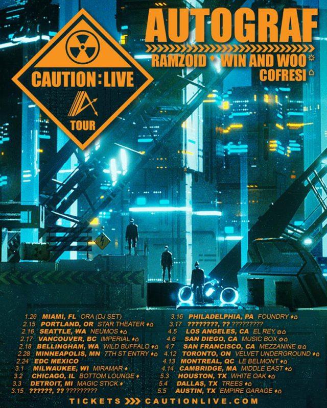 Autograf tour dates. Photo by: Autograf