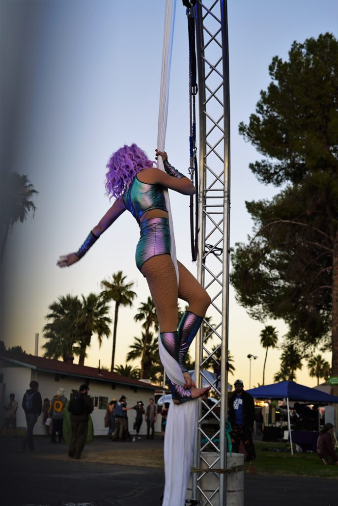 Aerial Performer at Gem and Jam Festival 2018. Photo by: Samantha Harvey