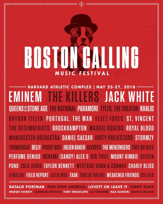 Boston Calling lineup for 2018. Photo by: Boston Calling