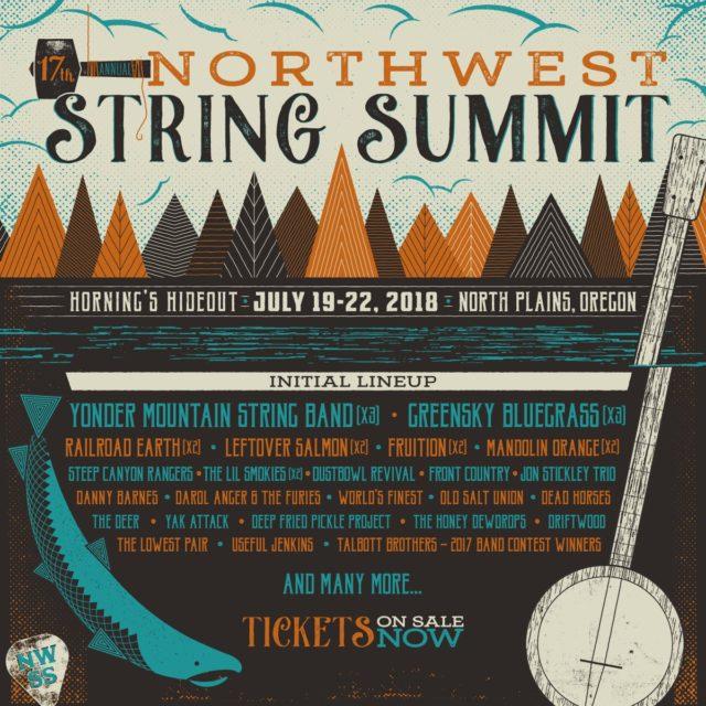Northwest String Summit 2018 lineup. Photo by: Northwest String Summit