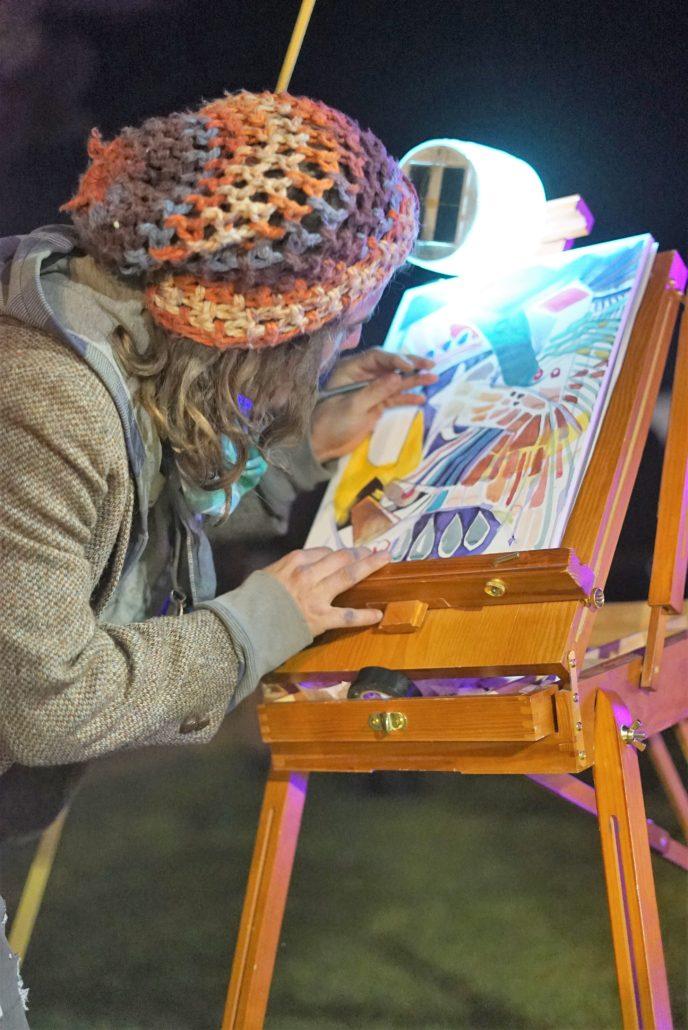 Live Painter. Photo by: RJ Harvey