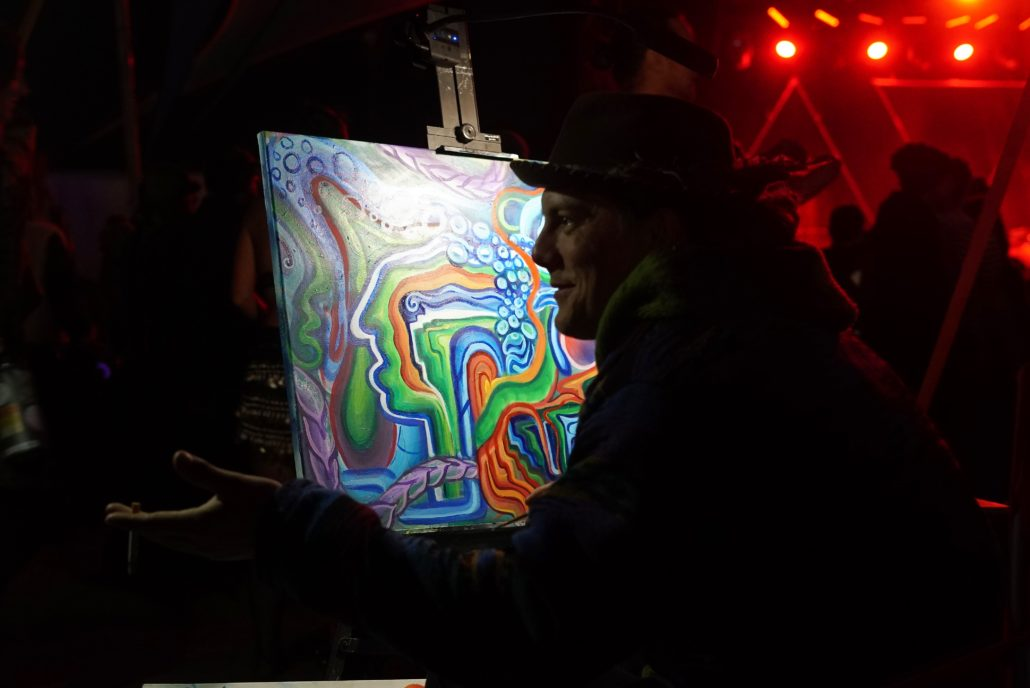 Live Painter. Photo by: RJ Harvey