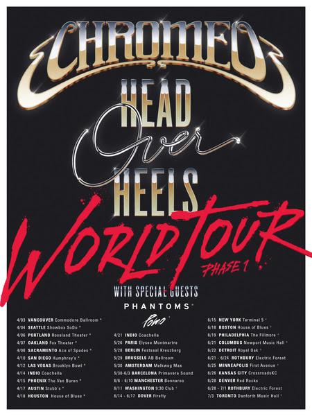 Chromeo 2018 tour dates. Photo provided.