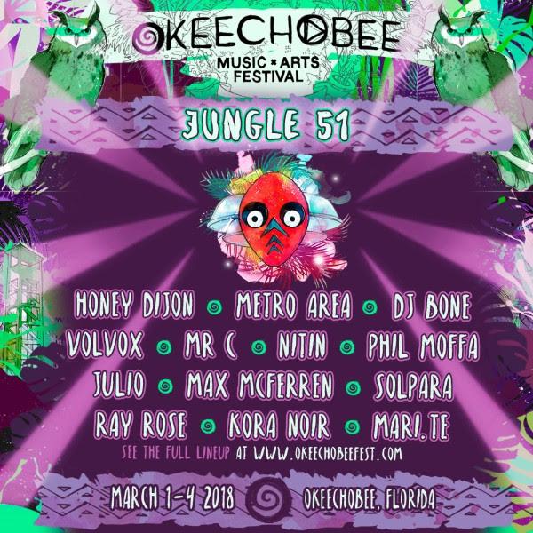 Okeechobee Music Festival JUNGLE 51 lineup. Photo provided.