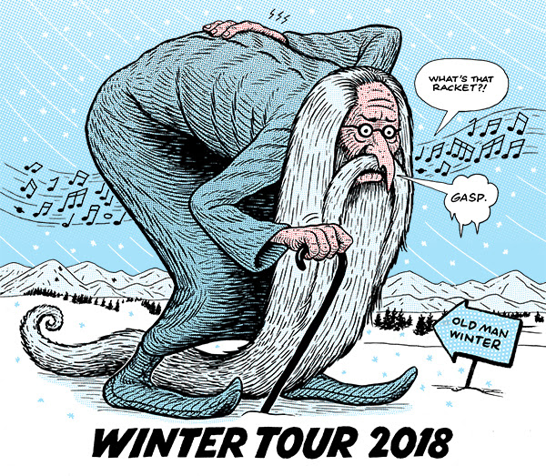 The backbreaking winds of winter. Photo by: Yonder Mountain String Band