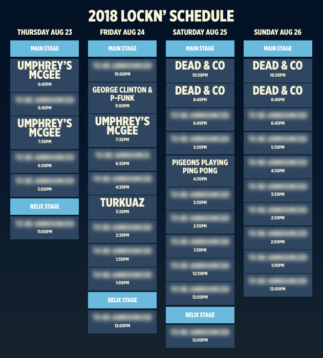 LOCKN Music Festival lineup announcement week. Photo by: LOCKN Music Festival
