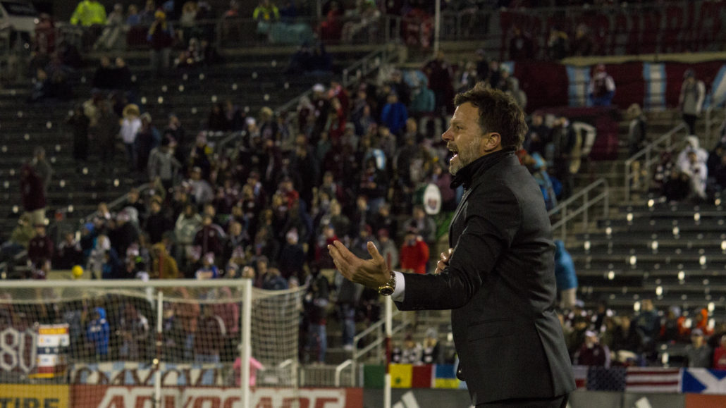 Colorado Rapids Head Coach Anthony Hudson. Photo by: Matthew McGuire