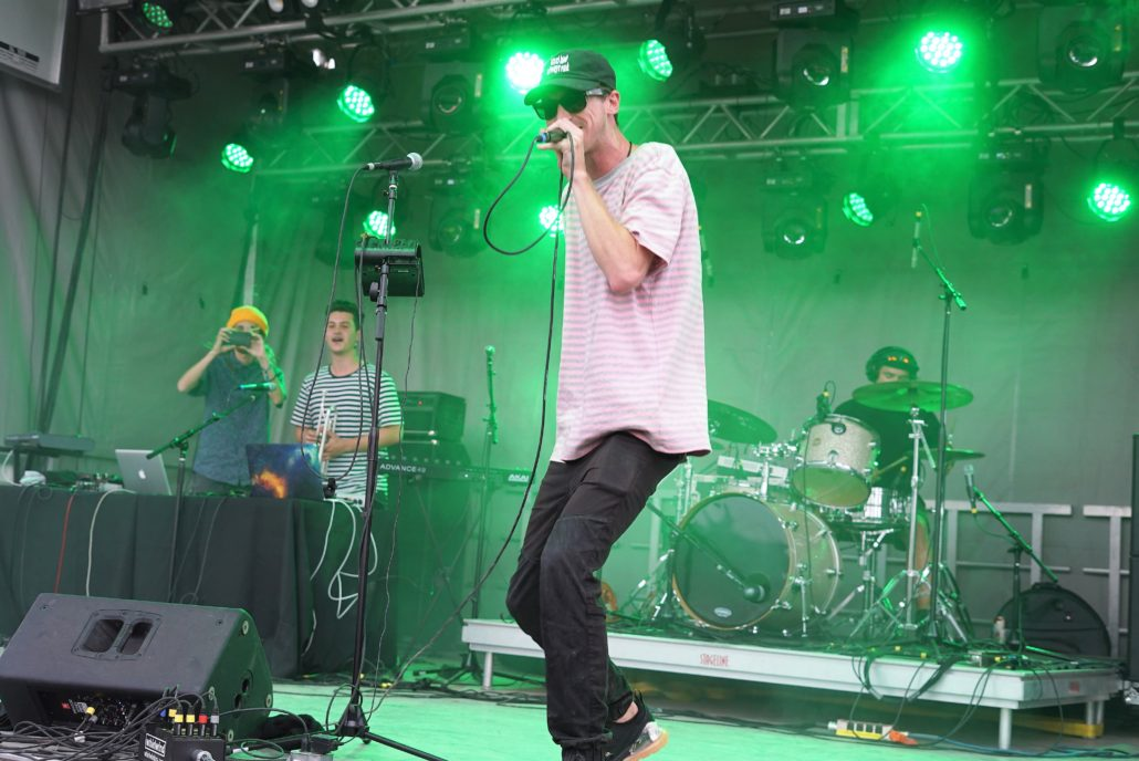 ProbCause performing on the Green Tree Stage. Photo was taken on 08/04/18. Photo by Samantha Harvey