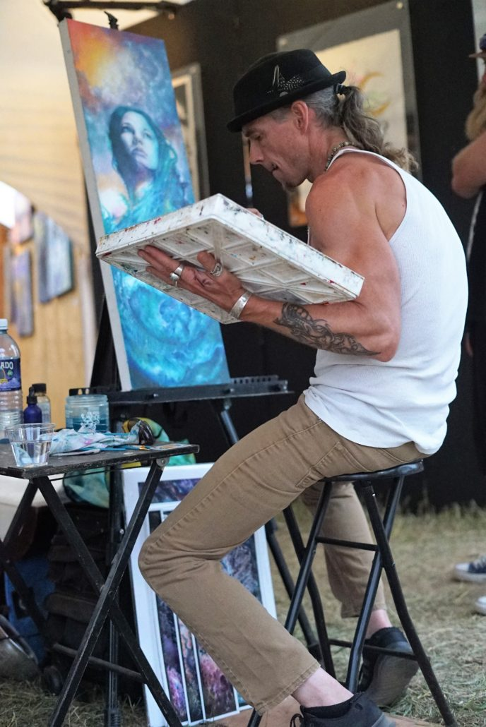Live painting at ARISE Music Festival. Photo by Samantha Harvey