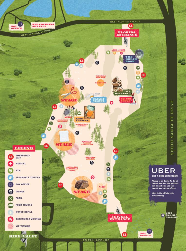Grandoozy Map 2018. Photo provided.
