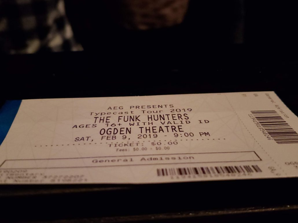The Funk Hunters performing at the Ogden Theater in downtown Denver on 09/09/19. Photo by: Matthew McGuire