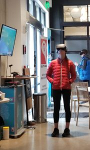 Guests test drive virtual reality projects at Galvanize in Boulder, Colorado. Photo by: Matthew McGuire