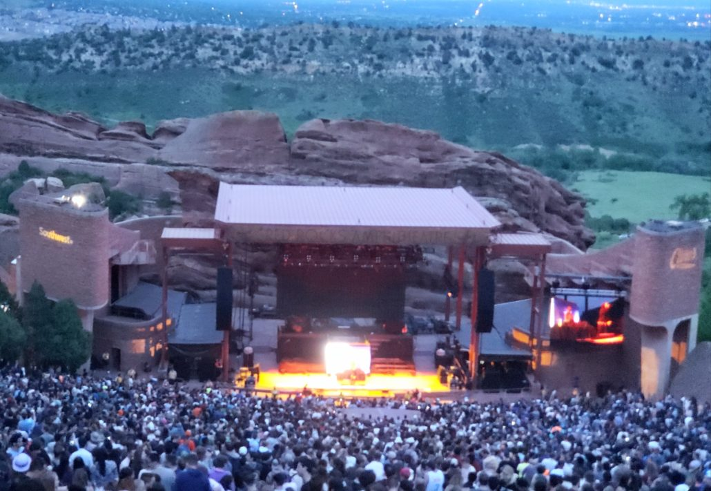Thundercat performing live at Red Rocks on Friday, June 14. Photo by: Matthew McGuire