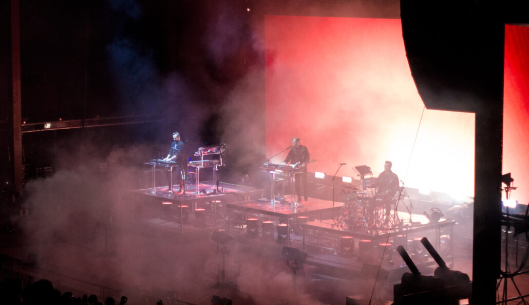 Rüfüs Du Sol performing at Red Rocks Amphitheatre on 10/03/19. Photo by: Matthew McGuire