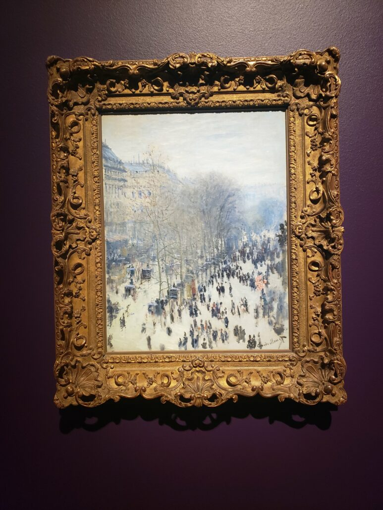 Boulevard des Capucines. Painting by Claude Monet in 1873-1874. Photo by: Matthew McGuire