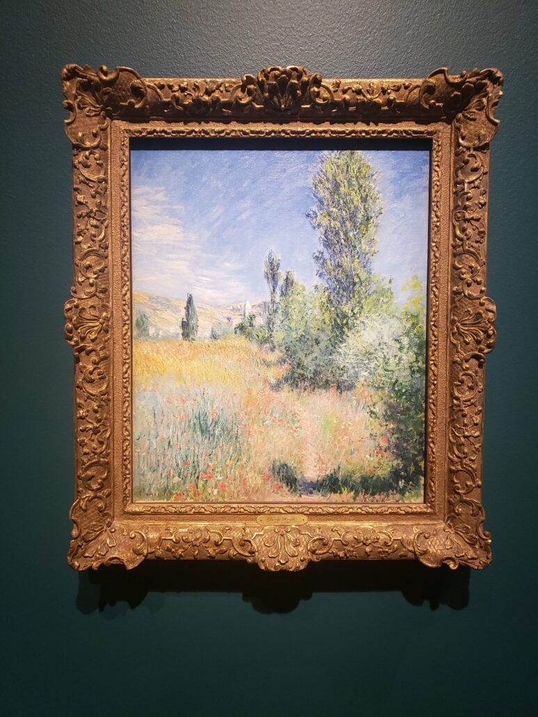 Landscape in Île Saint-Martin. Painting by Claude Monet in 1881. Photo by: Matthew McGuire