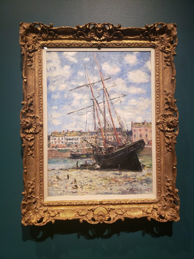 Boat Lying at Low Tide. Painting by Claude Monet in 1881. Photo by: Matthew McGuire