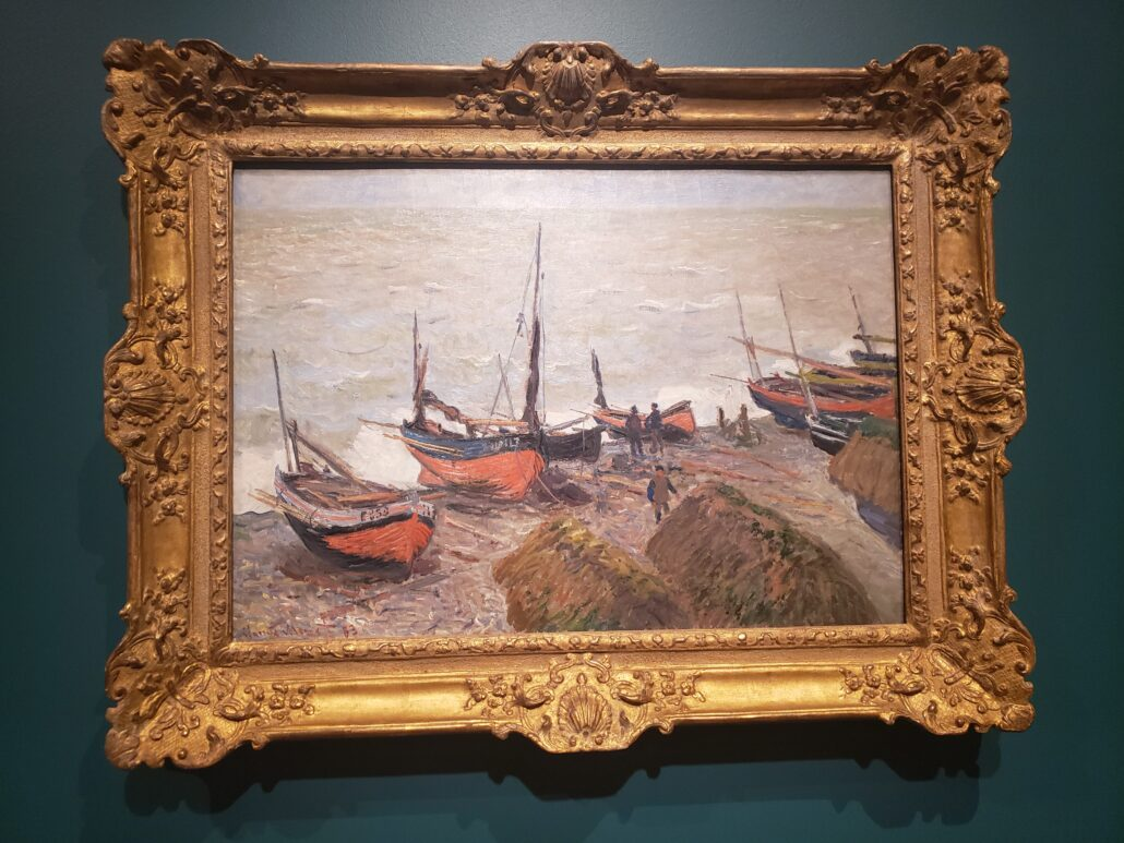 Fishing Boats. Painting by Claude Monet in 1885. Photo by: Matthew McGuire