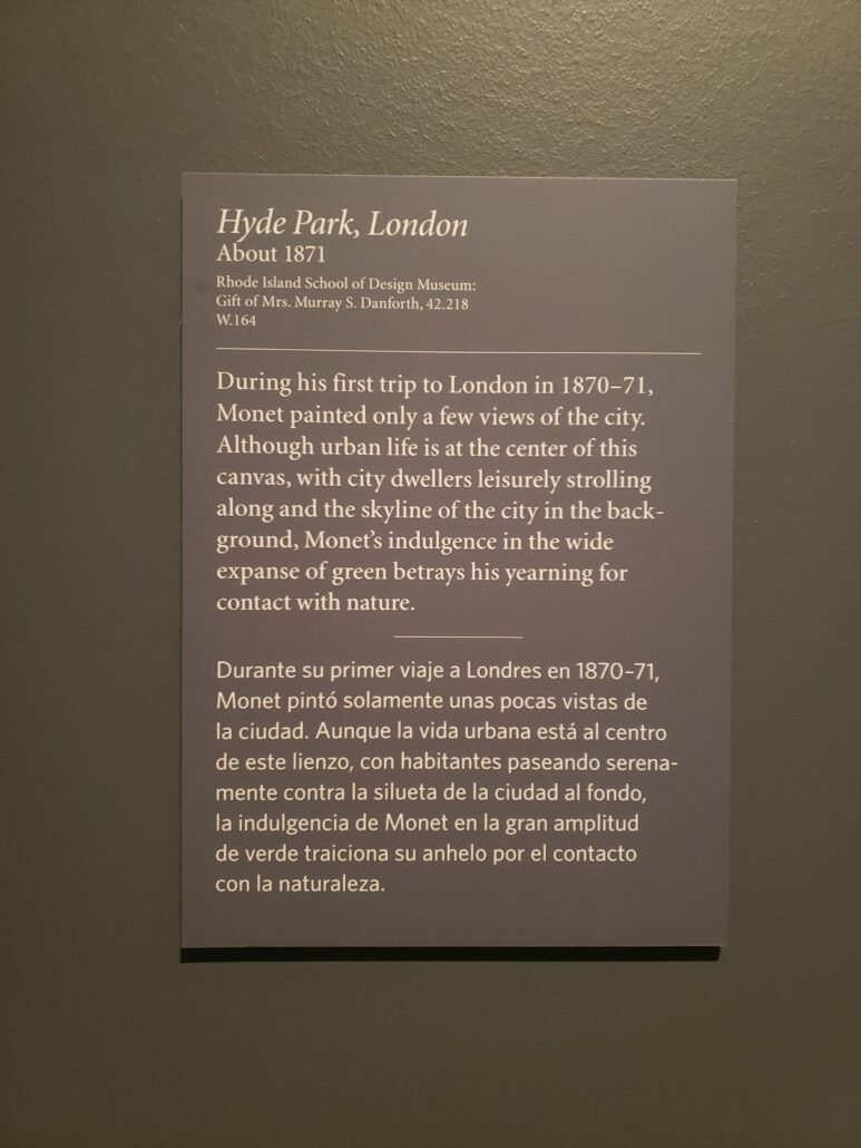 Hyde Park, London description at the Denver Art Museum. Photo by: Matthew McGuire