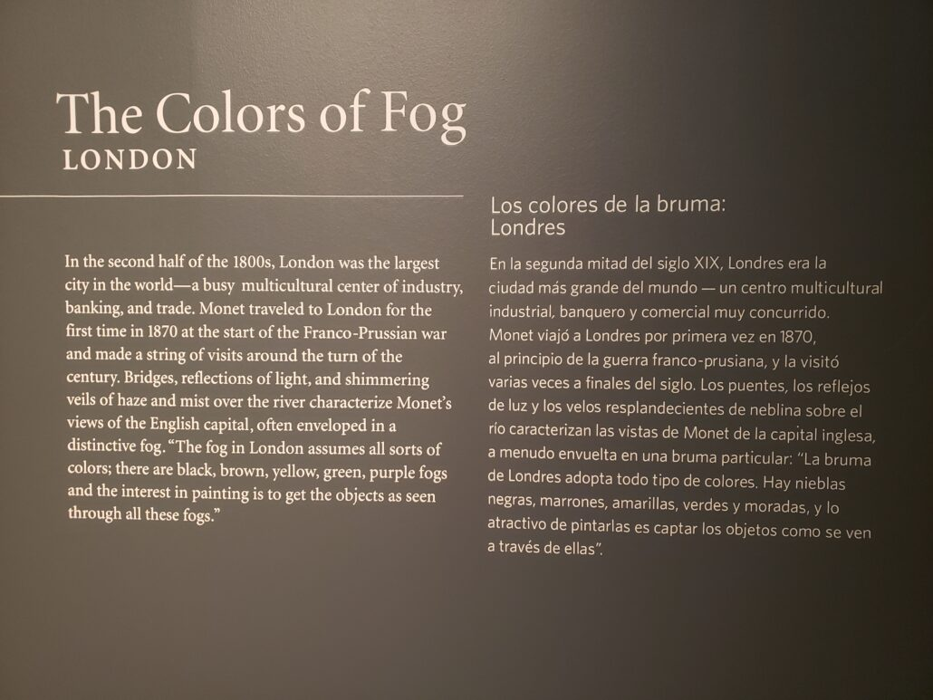 A description of Claude Monet's career at the Denver Art Museum. Photo by: Matthew McGuire