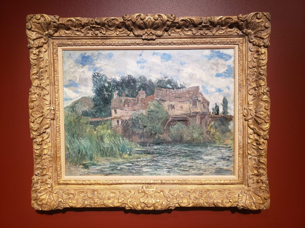 House on the Old Bridge at Vernon. Painted by Claude Monet in 1883. Photo by: Matthew McGuire
