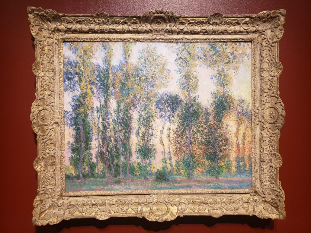 Poplars at Giverny. Painted by Claude Monet in 1887. Photo by: Matthew McGuire