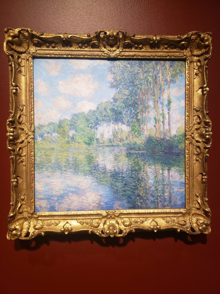 Poplars on the Epic. Painted by Claude Monet in 1891. Photo by: Matthew McGuire