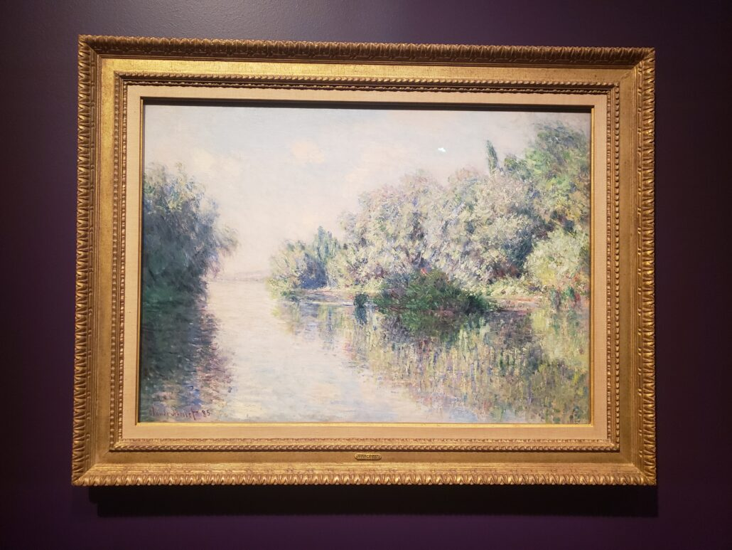 The Seine near Giverny. Painted by Claude Monet in 1885. Photo by: Matthew McGuire