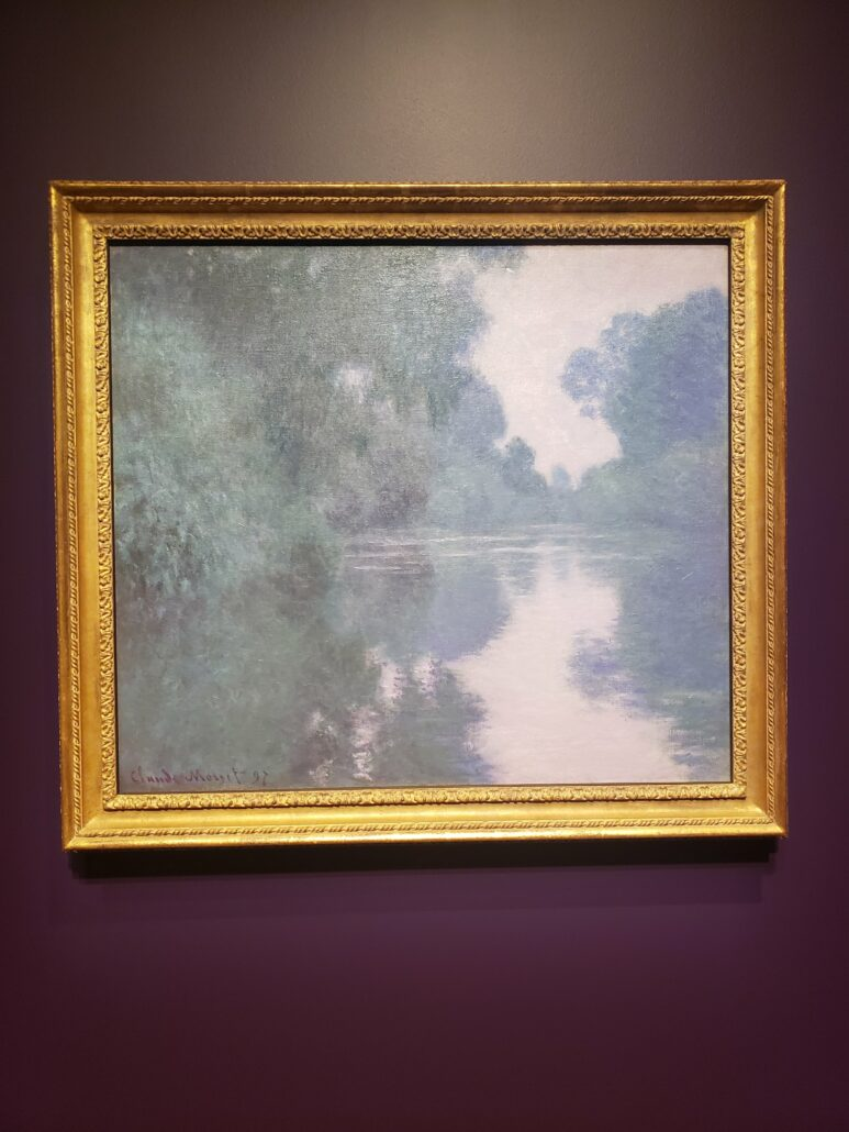 Morning on the Seine, near Giverny. Painted by Claude Monet in 1897. Photo by: Matthew McGuire