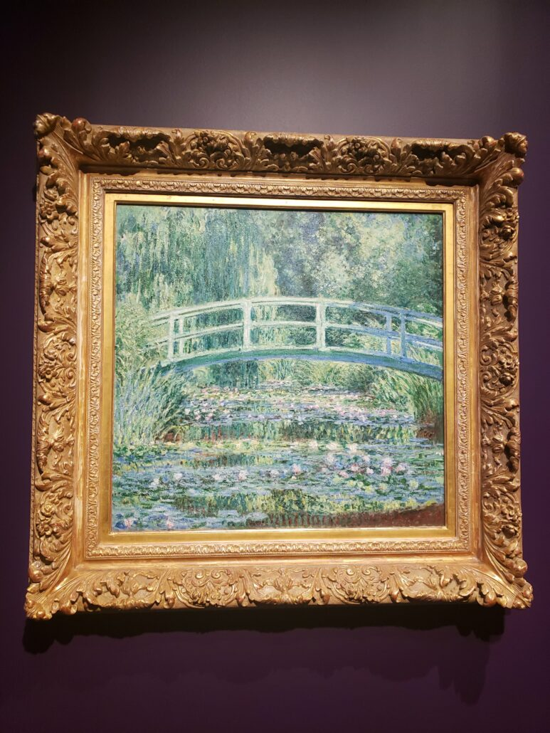 Water-lilies and Japanese Bridge. Painted by Claude Monet in 1899. Photo by: Matthew McGuire