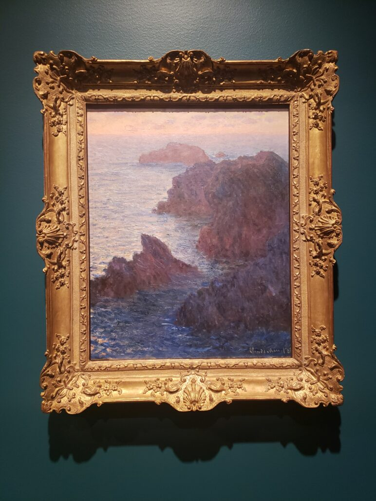Rocks at Belle-Île, Port Domois. Painted by Claude Monet in 1886. Photo by: Matthew McGuire