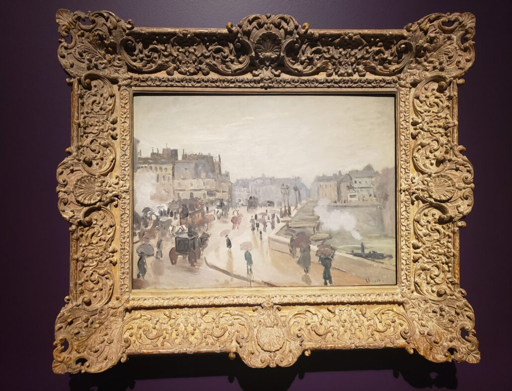 The Pont-Neuf. Painting by Claude Monet in 1871. Photo by: Matthew McGuire