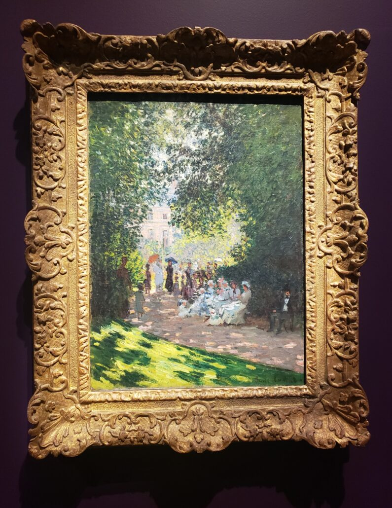 The Parc Moncean. Painting by Claude Monet in 1878. Photo by: Matthew McGuire