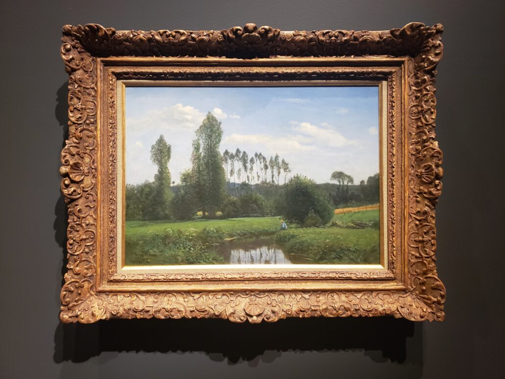 View from Rouelles. Painted by Claude Monet in 1858. Photo by: Matthew McGuire