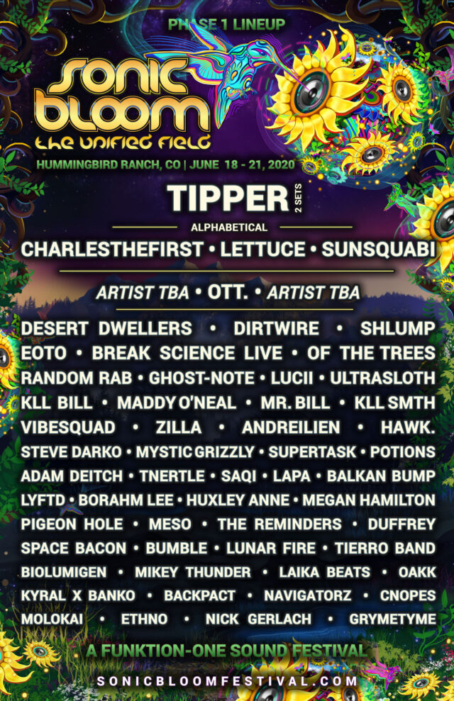 Sonic Bloom initial lineup. Photo by: Sonic Bloom
