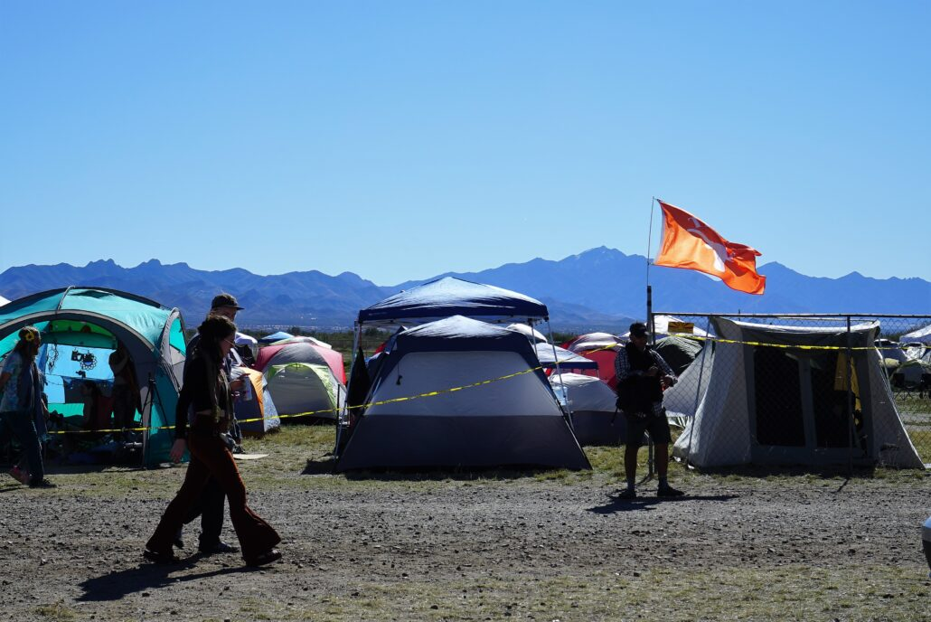 Gem and Jam Festival camping area. Photo by: Samantha Harvey