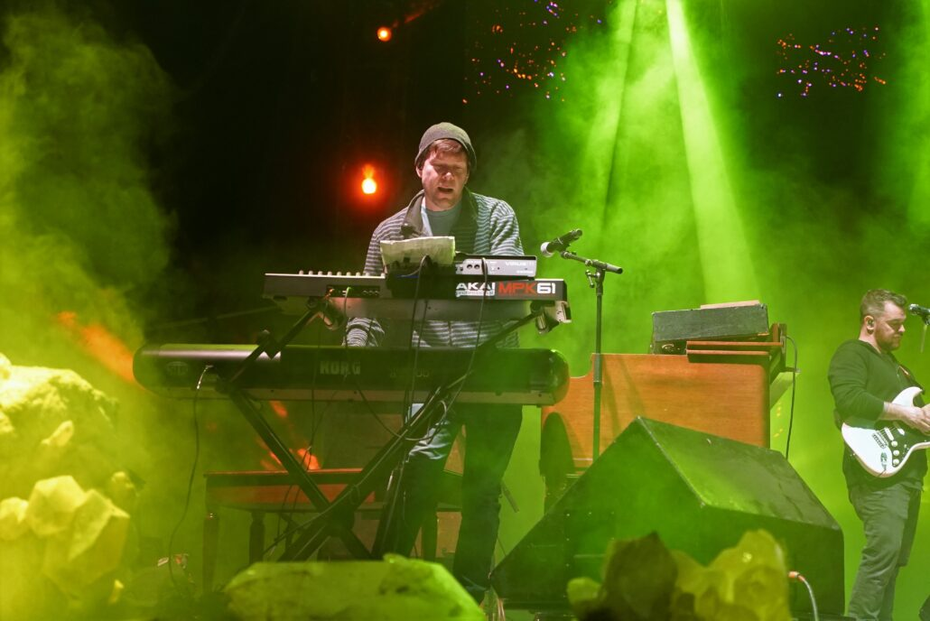 Kyle Hollingsworth, member of The String Cheese Incident, and Matt Hill, member of The Floozies, performing with TH3 at the 2020 Gem and Jam Festival in Tucson, Arizona. Photo by: Samantha Harvey
