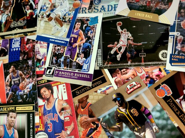 A collection of basketball cards. Photo by: Matthew McGuire
