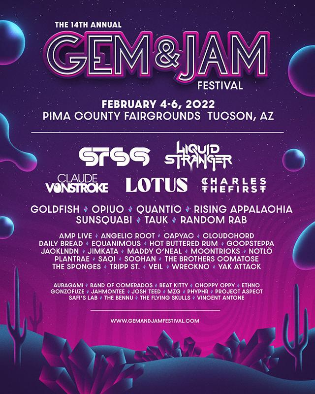 Gem and Jam Festival 2022 lineup. Photo provided.